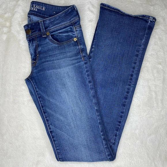 American Eagle Low Rise Bootcut Denim Jeans
